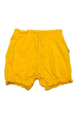 short-fem-meia-malha-amarelo-M