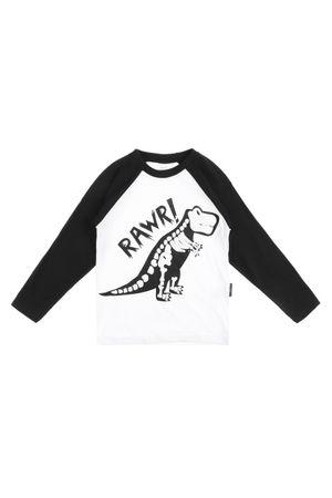 7311_T-shirt-Infantil-Raglan-Manga-Longa-Rawr_Frente