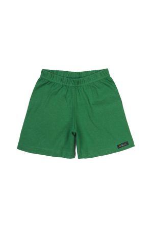 short-curto-ribana-infantil-verde-bandeira