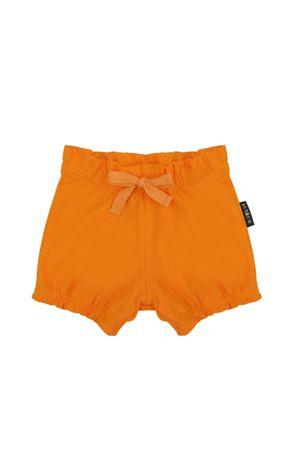 short-feminino-meia-malha-laranja